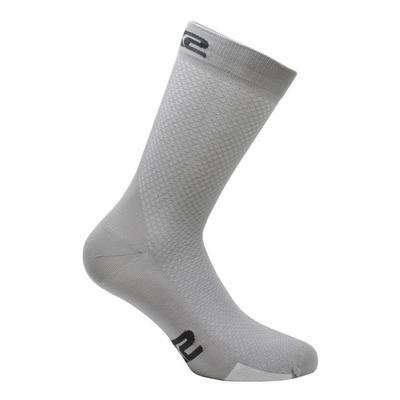 Chaussettes hautes Sixs P200 argent/blanc