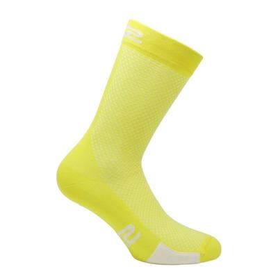 Chaussettes hautes Sixs P200 jaune tour/blanc