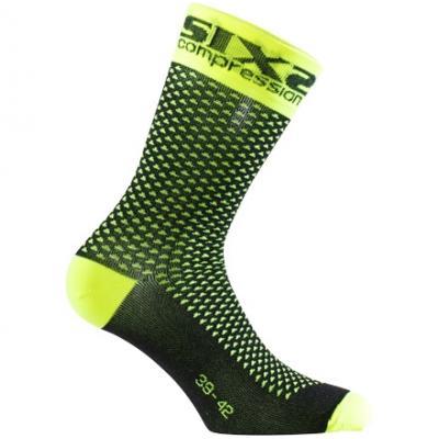 Chaussettes de compression Sixs Comp Sho jaune fluo
