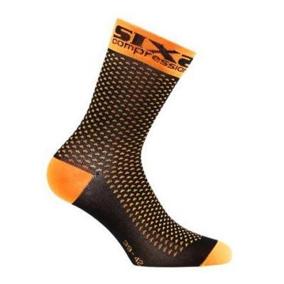 Chaussettes de compression Sixs Comp Sho orange fluo