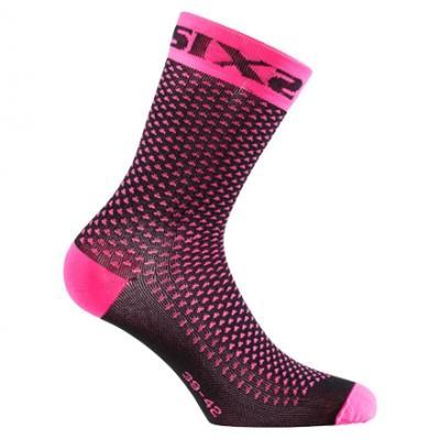 Chaussettes de compression Sixs Comp Sho rose fluo