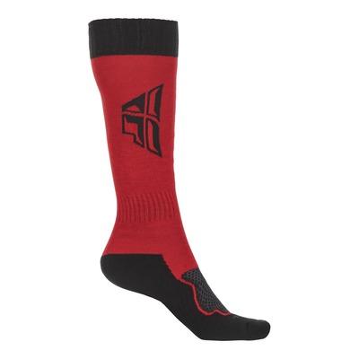 Chaussettes enfant Fly Racing MX Thick rouge/noir