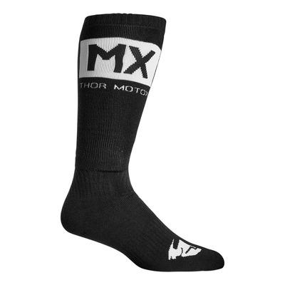 Chaussettes enfant Thor MX Solid Socks noir/blanc