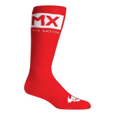 Chaussettes enfant Thor MX Solid Socks rouge/blanc