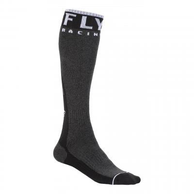 Chaussettes Fly Racing MX Pro Socks Thick noir/gris foncé