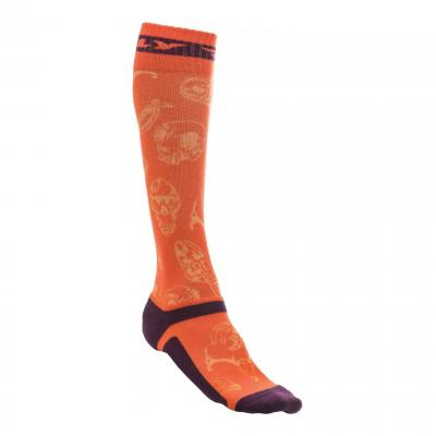 Chaussettes Fly Racing MX Pro Thick orange/violet