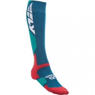 Chaussettes Fly Racing MX Pro Thick rouge/bleu