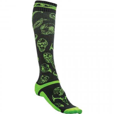 Chaussettes Fly Racing MX Pro Thick vert/noir