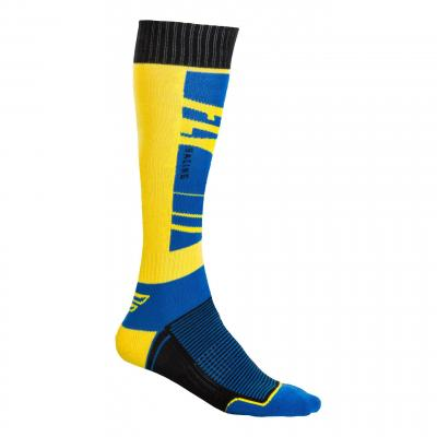 Chaussettes Fly Racing MX Socks Thick bleu/jaune