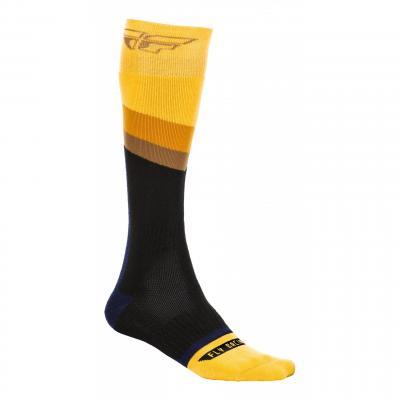 Chaussettes Fly Racing MX Socks Thick jaune/gris foncé/noir