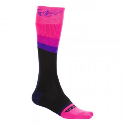Chaussettes Fly Racing MX Socks Thick rose/noir