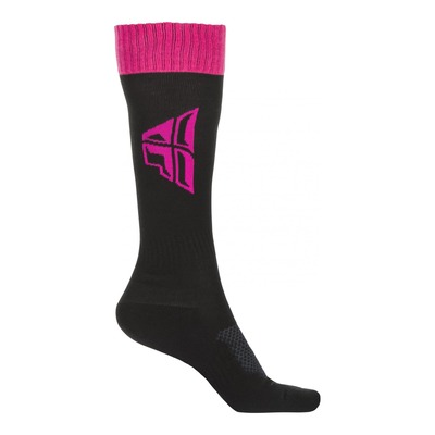 Chaussettes Fly Racing MX Thick noir/rose/gris