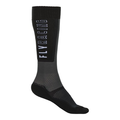 Chaussettes Fly Racing MX Thin noir/gris/blanc