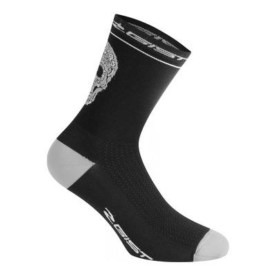 Chaussettes Gist Crâne mi-hautes (18cm) noires/grises