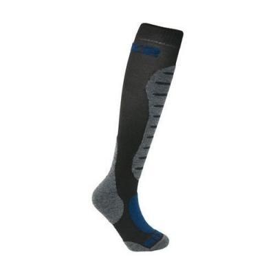 Chaussettes hautes Sixs Mots mérinos noires/grises