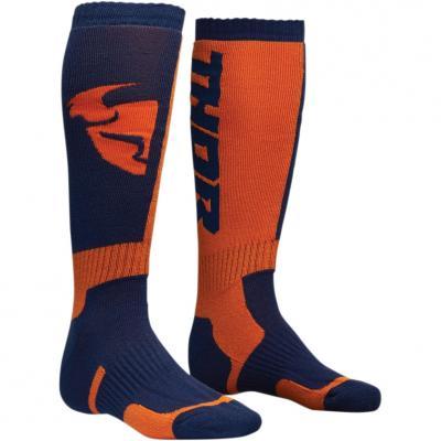 Chaussettes longues enfant MX navy/orange