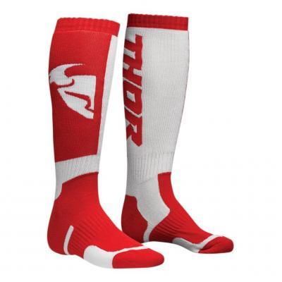 Chaussettes longues enfant MX rouge/blanc