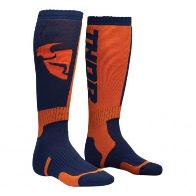 Chaussettes longues Thor MX navy/orange