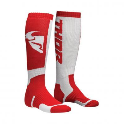 Chaussettes longues Thor MX rouge/blanc