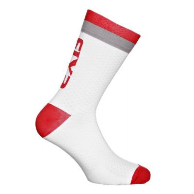 Chaussettes Sixs luxury 200 blanc/gris/rouge