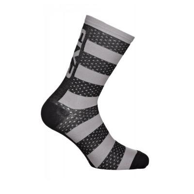 Chaussettes Sixs luxury merinos noir/gris