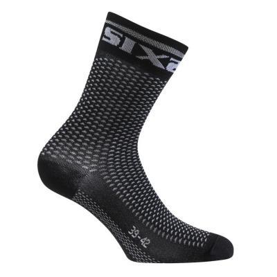 Chaussettes Sixs Short S carbone noir