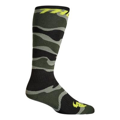 Chaussettes Thor MX Camo Socks vert/acid