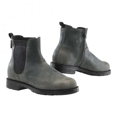 Chaussure cuir/textile TCX Staten WP anthracite/gris