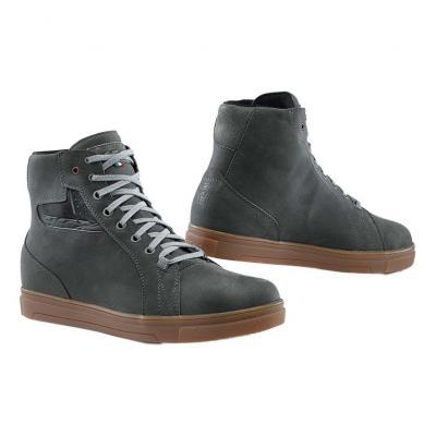 Chaussure moto cuir TCX Street Ace WP gris/naturel rubber