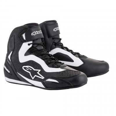 Chaussures moto Alpinestars Faster 3 Rideknit noir/blanc
