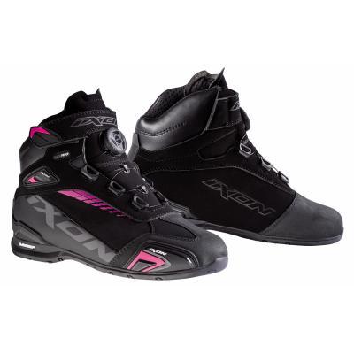 Chaussures moto femme Ixon Bul WP Lady noir/fuschia