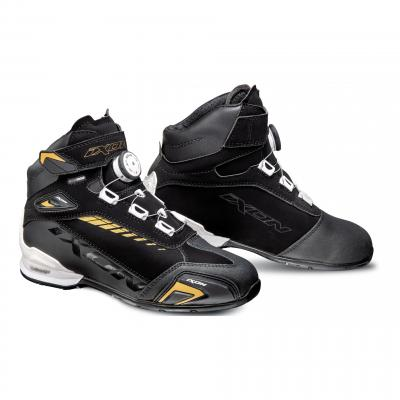 Chaussures moto femme Ixon Bull WP Lady noir/blanc/or