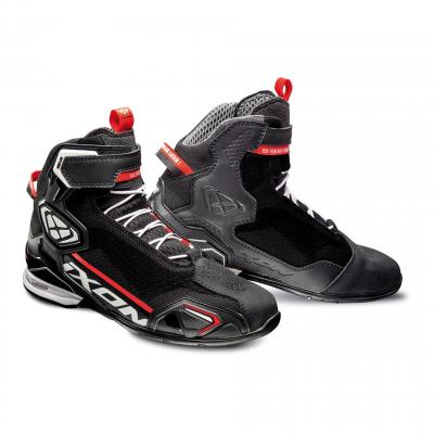 Chaussures moto Ixon Bull Knit noir/blanc/rouge