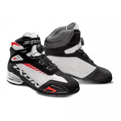 Chaussures moto Ixon Bull Vented noir/blanc/rouge