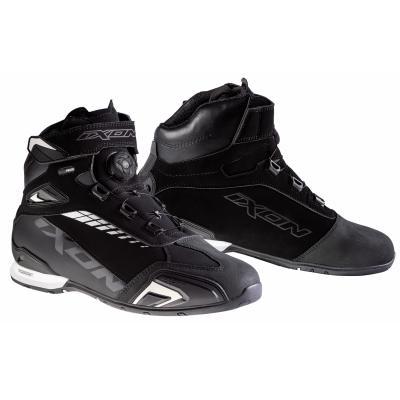 Chaussures moto Ixon Bull WP noir/blanc