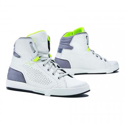 Chaussures moto mixtes Forma Swift Flow blanc/gris