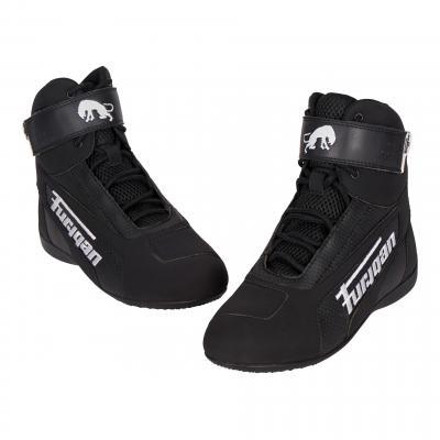 Chaussures moto textile Furygan Zephyr Air D3O noir/blanc