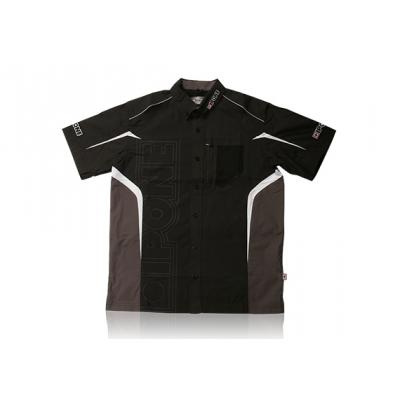 Chemise manches courtes Ipone noir/gris