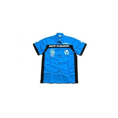Chemisette YCF Riding bleu/noir