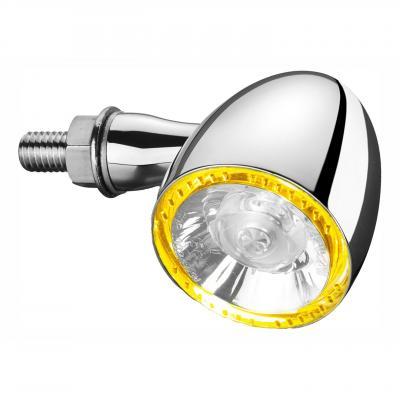Clignotant LED Kellermann Bullet 1000 PL chromé avec veilleuse jaune