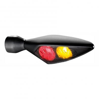 Clignotant LED Kellermann Micro Rhombus DF Dark noir avec feu stop et feu arrière intégrés AR D