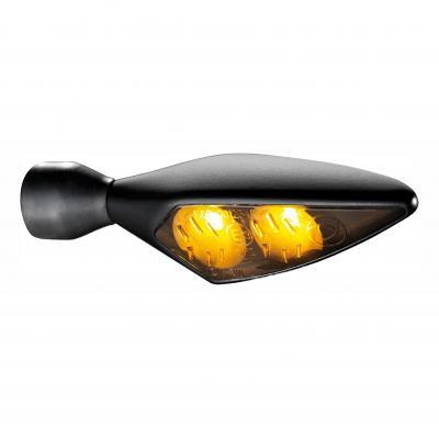 Clignotant LED Kellermann Micro Rhombus noir avec verre fumé AV G / AR D