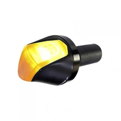 Clignotant LED Koso Knight noir fixation embout de guidon
