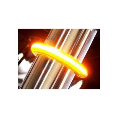 Clignotants à LED Brazoline Flex pour fixation sur tube de fourche