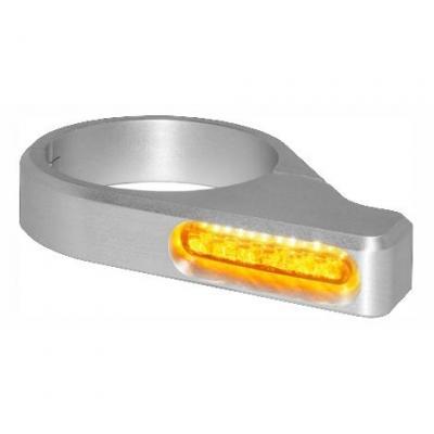 Clignotants de fourche Heinz Bikes LED alu Ø 54 – 56 mm