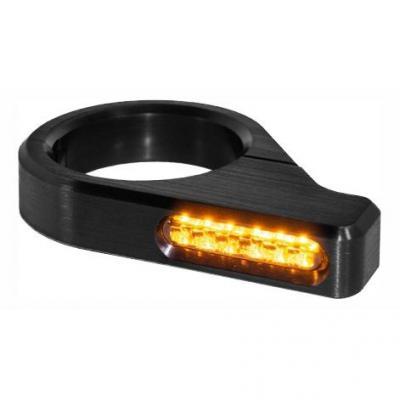 Clignotants de fourche Heinz Bikes LED noirs Ø 47 – 49 mm