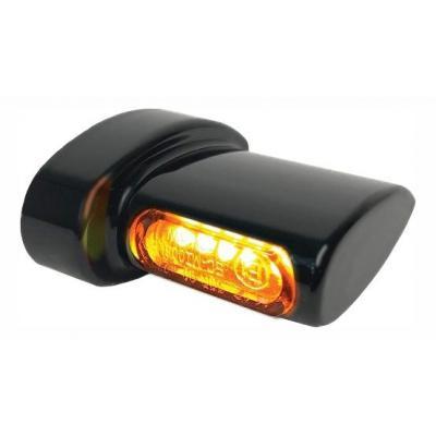 Clignotants de garde-boue arrière Heinz Bikes Micro LED noir / ambre