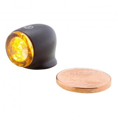 Clignotants Highsider Proton 2 LED noirs avec feu arrière intégré
