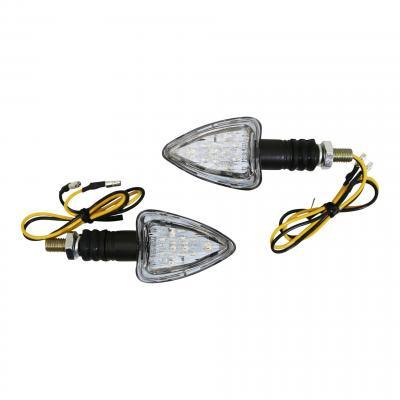 Clignotants LED Avoc Aso noir / transparent