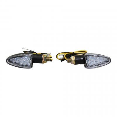 Clignotants LED Avoc Tosa noir / transparent
